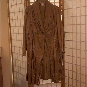 Jones of New York satin evening trench coat